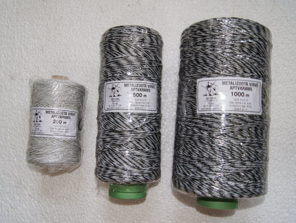04 004 Metalizuota virvė INOX 6×0,15 500m
